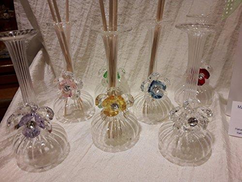 Bomboniere matrimonio vetro murano con cristallo swarovski completa confettata e bigliettino e scatola