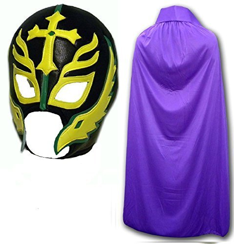 Son of the Devil Caribe Fancy Kleid Mexikanischen Wrestlers Erwachsene Mexican Wrestling Maske W/Violett - Mexikanische Wrestling-cape
