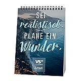 VISUAL STATEMENTS Wochenkalender 2019, Tischaufsteller – Geschenkbuch, Kalender mit Sprüchen; schöne Bilder – ein Geschenkbuch - in DIN A5 – Dekoration - zum Hinstellen