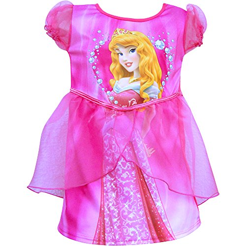 (Disney Mädchen Kleid Rosa Pink Gr. 5-6 Jahre, Rosa - Pink)