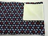 Babydecke - ROTE UND WEISSE ANKER - 100 x 70 cm - Baumwolle & Fleece - personalisierbar - Kuscheldecke/Krabbel-Decke für Bett oder Kinderwagen - Geschenk Geburt Taufe Geburtstag Weihnachten