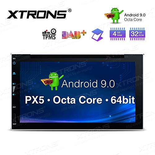 """XTRONS 6.95\"""" 8 Core Android Double DIN Autoradio mit Touchscreen Auto Multimedia Player Android 9.0 Octa Core Autostereo 2DIN CAR Auto Play 4G Bluetooth 4GB RAM 32GB ROM DAB OBD2 TPMS UNIVERSAL"""