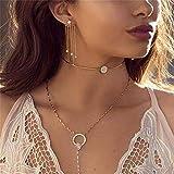 NYAOLE Lange Quasten-Ohrringe mit exquisiter Rückseite zum Aufhängen, eingelegte Stein-Ohrringe mit sechseckigen Sternen Siehe Produktbeschreibung Gold Color