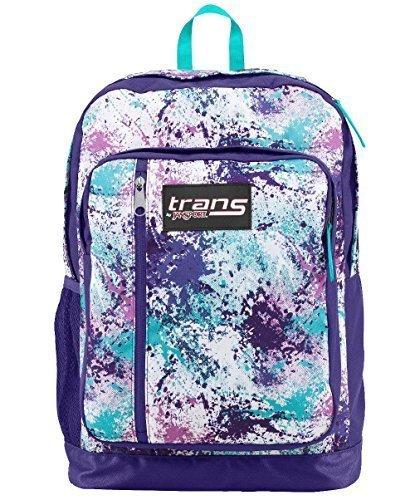 Trans Jansport Megahertz Laptop Backpack Purple Turquoise Blue White Pink Spl... Spl Auto