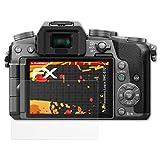 atFoliX Folie für Panasonic Lumix DMC-G70 Displayschutzfolie - 3 x FX-Antireflex-HD hochauflösende entspiegelnde Schutzfolie