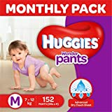 Huggies Wonder Pants Medium Size Diapers Monthly Pack (152 Count)