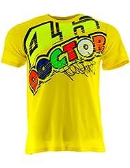 Valentino Rossi VR46 Moto GP The Doctor Jaune T-shirt Officiel 2017