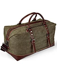 d511d2cf58 Aizbo® Canvas Travel Carry On Duffel Bags Holdall Overnight Weekend Satchel  Totes Bag Handbags for