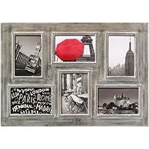 Walther, Grande Ville, Marco Multifoto de Madera Para 6 Fotos, QR615P, 6x10x15 cm, Marrón