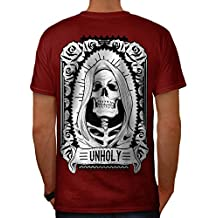 unheilig Rose Tod Schädel Herren S-5XL T-shirt Zurück | Wellcoda