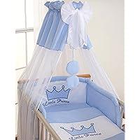 Housses de couette et d'oreiller pour lit bébé 120x60 - Prince bleu