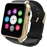 Evershop Waterproof Heart Rate Monitor Bluetooth 4.0 NFC Smart Watch For IOS Android System Smartphone,Touchscreen Smart Wrist Watch, U Watch Phone Mate with 2.0 m Camera (Gold)