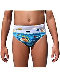 Swimgo Swimmers Design - Bañador de entrenamiento  para niños, con diseño de Nadadores, talla 3XS