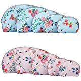 UberLyfe Flower Printed Multipurpose Pouch Or Purse -Blue And Pink- Combo Of 10(PU-1713-14-COMBO)