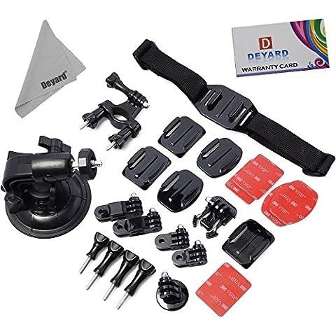 Deyard ZG-64412Kit di montaggio accessori per GoPro HD Hero Serie, colore: argento