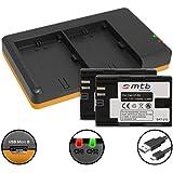 2 Akkus + Dual-Ladegerät (USB) für LP-E6(N) / Canon EOS 5D, 5DS, 6D, 7D II, 60D, 70D, 80D / XC-10 / WTF-E4(II), E5, E7 … - s. Liste (inkl. Micro-USB-Kabel)