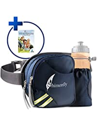 FLASH SALE! Waist Bag Waterproof For Men Women | Hiking Fanny Pack With Water Bottle Holder By Shimonfly + Digital...
