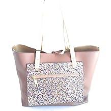 Pollini BAG BORSA DONNA GLITTER mis. 33x27 cm. col. TAUPE prezzo retail € db15212be7b