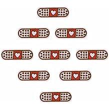 10 parches termoadhesivos tiritas de amor bordados para cazadoras, pantalones, mochilas, zapatillas,