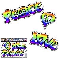 Liebe Frieden Regenbogen lustige Aufkleber für Auto-Boote LKW Caravan - ST00065_SML - JAS Aufkleber