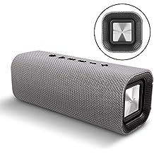 Altavoz bluetooth portatil HAVIT M16 Altavoz inalambrico Bluetooth V4.2 con 360 Grados de Sonido Envolvente 14 horas Llamadas Manos Libres con 3 Interfaces-Negro/Gris (Gris)