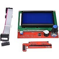 ARCELI Smart Card Controller 12864 LCD Smart Display con Adaptador y Cable para Impresora 3D Rampe 1.4 RepRap Impresora 3D Mendel Prusa Arduino