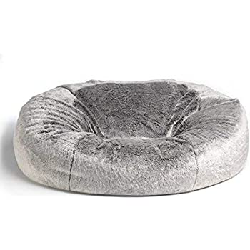 icon Faux Fur Bean Bag Chair - Arctic Wolf Grey - Extra Large 6ad516f3de053