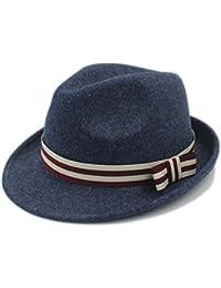 GBY Cappello da Donna in Feltro di Lana Donna Uomo Cappello di Fedora  Elegant Lady Bowknot 1f3330e027de