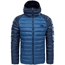 The North Face M Trevail Hoodie Chaqueta, Hombre, Shady Blue/Urban Navy, L