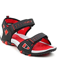 FUEL Men's Boy's Fashionable Latest Summer Collection Designer Comfortable Velcro Closure Solid Casual Floaters & Sandals