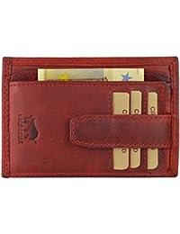 Solo Pelle Vintage Geldbörse aus echtem Leder Model: 5086 Slimfit, Vintage Rot