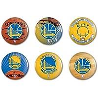 """Offizielle NBA """"Golden State Warriors"""" Button, Anstecker, Pins als 6er Set"""