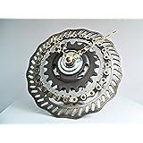 Design Fahrrad Uhr Flower / Bike clock / Upcycling / Interior Design / Industrial / Brooklyn