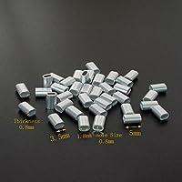 """Único de aluminio Oval crimpadora Loop funda para 1/32""""Diámetro Cuerda De Alambre Y Cable, (Pack de 200)"""