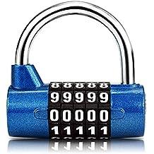 Surplex Cerradura de la Combinación de Seguridad Candado de 5 Dígitos, Juego de Candado Impermeable