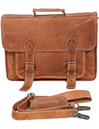 NeoFeral 100% Original Brown Leather Unique Dessigned Messenger Bags  Laptop Bag Macbook Pro Macbook Air Slim...