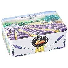 DV FRANCE - Canistrelli Saveur Citron - Dans une Boîte Sucrette - Décor Champ de Lavande 200 G