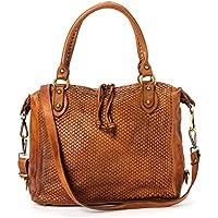 Ira del Valle, Borsa Donna, In Vera Pelle Vintage, Made in Italy, Modello Cheyenne Bag, Borsa Grande a Mano e Spalla con Tracolla da Donna Ragazza
