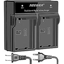Neewer Cargador de batería Digital LED doble canal para bateria Nikon EN-EL15, Nikon cámaras DSLR D600 D610 D7000 D7100 D750 D800, D800E D800S D810 y Grips MB-D11 D12 MB MB-D14-D15 MB MB-D16(Enchufe EE.UU./UE)