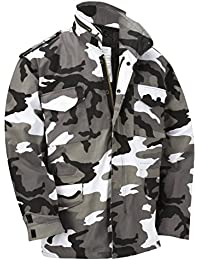 M65 Military Field Jacket With Removable Quilted Inner Liner - Urban Camouflage