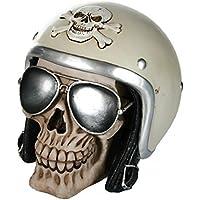 Preisvergleich für Bada Bing Spardose Totenkopf Schädel Motorradhelm Biker Brille Skull 4fach Sortiert 35