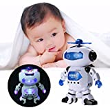 Dancing Robots/Dancing Robot With 3d Lights And Music/Dancing Robot With Led Light And Music, Multi Color/robot Toys For Boys(19CM) By Onestopshop_enterprise