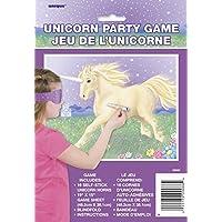 Unique Party 9088 - Gioco per Festa a Tema Unicorni per 16 - Game Party Pin