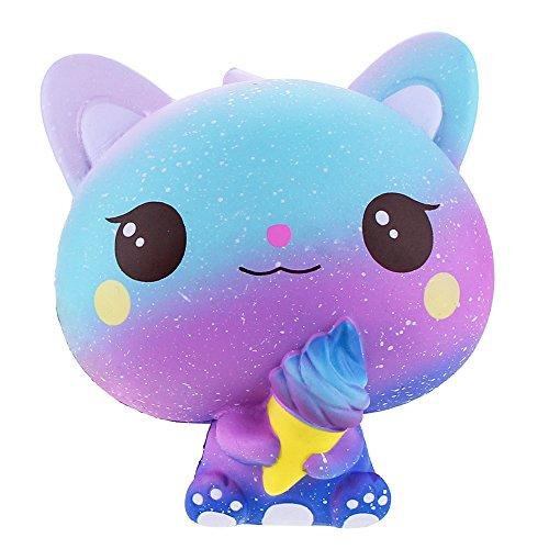 Vlampo jumbo squishies lento alzarsi gelato decorazione decorazione squishy kawaii giocattoli antistress da 5.9 '' (azzurro)