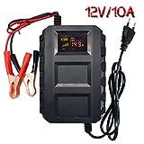 Etrogo Chargeur de Batterie pour Voiture,12V 10A Mainteneur de Batterie Intelligent...