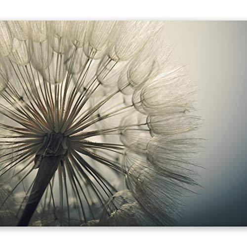 murando - Fototapete Pusteblumen 350x256 cm - Vlies Tapete - Moderne Wanddeko - Design Tapete - Wandtapete - Wand Dekoration - Natur Landschaft Blumen grau beige Pusteblume b-B-0059-a-d
