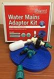 Care-avan Adapter für Wasseranschlüsse, geeignet für Aquaroll, Kugelhahn, 10m langer flacher Schlauch, in Lebensmittelqualität
