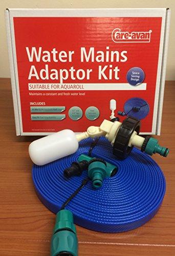 Preisvergleich Produktbild Care-avan Adapter für Wasseranschlüsse,  geeignet für Aquaroll,  Kugelhahn,  10 m langer flacher Schlauch,  in Lebensmittelqualität
