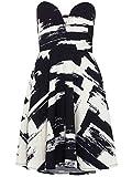 Zibi London - Abstract Print Bandeau Dress, Size 10