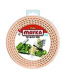 Mayka 34647 - Klebeband für Lego Bausteine, 2 m selbstklebendes Band mit 2 Noppen, gelbes Bausteinband, flexibles Noppenband zum Bauen mit Legosteinen für Kinder ab 3 Jahre, wiederverwendbar